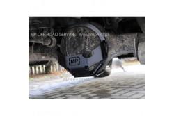 Osłona ze ślizgiem główki tylnego mostu do Land Rover Discovery II czarna