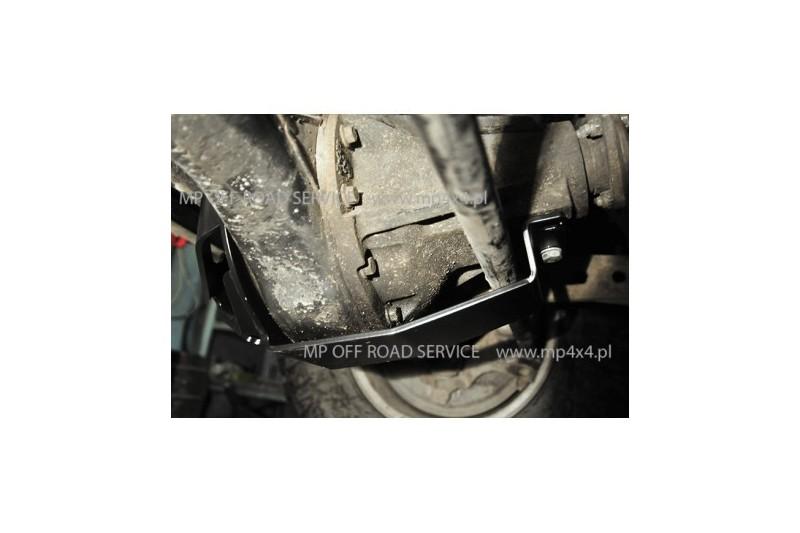 Osłona ze ślizgiem główki przedniego mostu do Land Rover Discovery II czarna