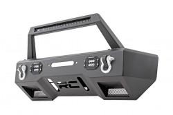 Zderzak przedni stalowy LED z płytą pod wyciągarkę Rough Country - Jeep Wrangler JK