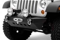 Zderzak przedni stalowy z płytą pod wyciągarkę SMITTYBILT Classic Rock Crawler - Jeep Wrangler JK