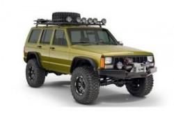 Poszerzenia nadkoli, błotników Bushwacker Flat Style - Jeep Cherokee XJ