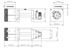 Wyciągarka Talon XXTreme 12,5 12V dwusilnikowa z przekaźnikami i prowadnicą ślizgową, bez liny.