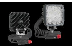 Lampa LED robocza na magnesie z przewodem 8m do zapalniczki 22W WESEM