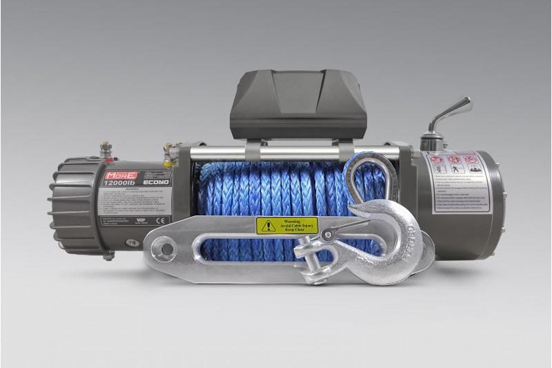 Wyciągarka MORE 4X4 ECONO 12000lbs 12V, syntetyk, ślizg, pilot b/p