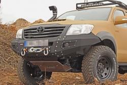 Aluminiowa przednia osłona podwozia, silnika - Toyota Hilux Vigo 05-11 do zderzaka Z010