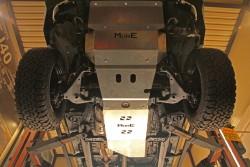 Aluminiowa osłona podwozia, skrzyni biegów i reduktora - Toyota Hilux Vigo 05-15 automat