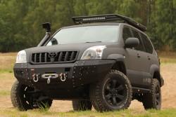 Stalowa przednia osłona podwozia, silnika - Toyota Land Cruiser 120 do zderzaka Z001