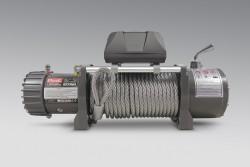 Wyciągarka MORE 4X4 ECONO 9500lbs 12V, lina stalowa, rolki, pilot b/p