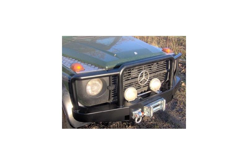 Zderzak skrzynkowy pod wyciągarkę z rurami ochronnymi - Mercedes G 460, 461, 463