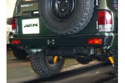 Zderzak tylny AFN - Nissan Patrol Y60 z otworami na...